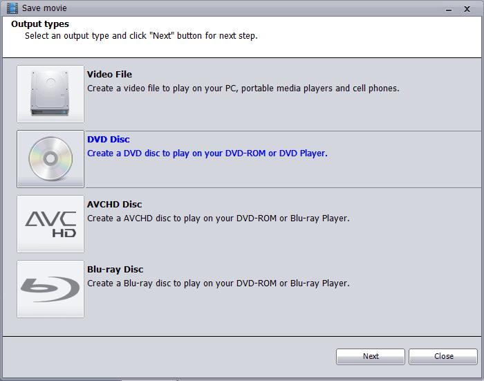 avchd disc format