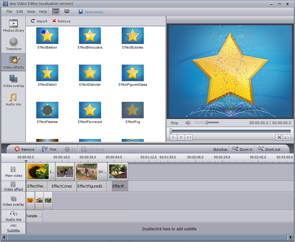 Features of Any Video Editor – Edit Video Files with Transitions and ...