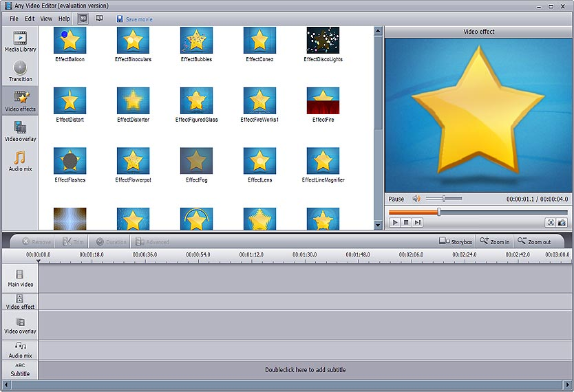 Any Video Editor – Video Editing Software, Edit Video, Edit Movie
